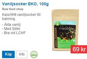 ekologiskt vaniljsocker