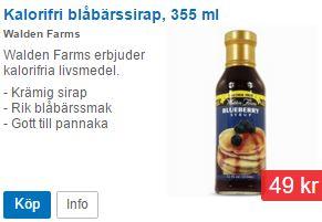 kalorifri blåbärssirap