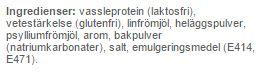 protein panncake ingrediens
