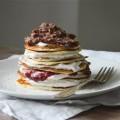 pannkakstårta med proteinpannkakor
