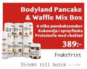 proteinpannkaka våffelmix burkar
